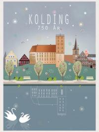 Kolding by og slot fejrer 750 år.